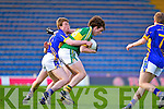James Devane of Kerry feels the pressure against Tipperary's Connor O'Sullivan in Thurles for the Munster Semi Final.