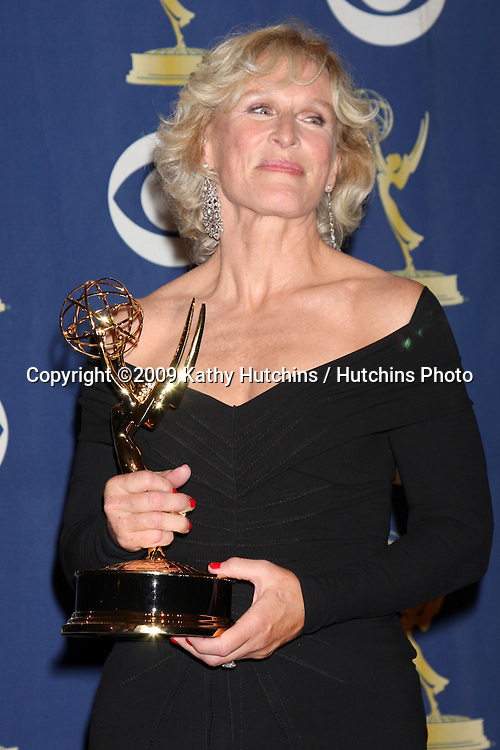Glenn Close.In the Press Room  at the 2009 Primetime Emmy Awards.Nokia Theater at LA Live.Los Angeles, CA.September 20, 2009.©2009 Kathy Hutchins / Hutchins Photo.