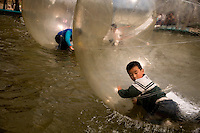 Children in bubbles - Xianyang, China