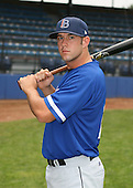 July 14th, 2007:  Tyler Henson of the Aberdeen Ironbirds, Class-A Short-Season affiliate of the Baltimore Orioles, poses before a game vs the Jamestown Jammers in New York-Penn League action.  Photo Copyright Mike Janes Photography 2007.