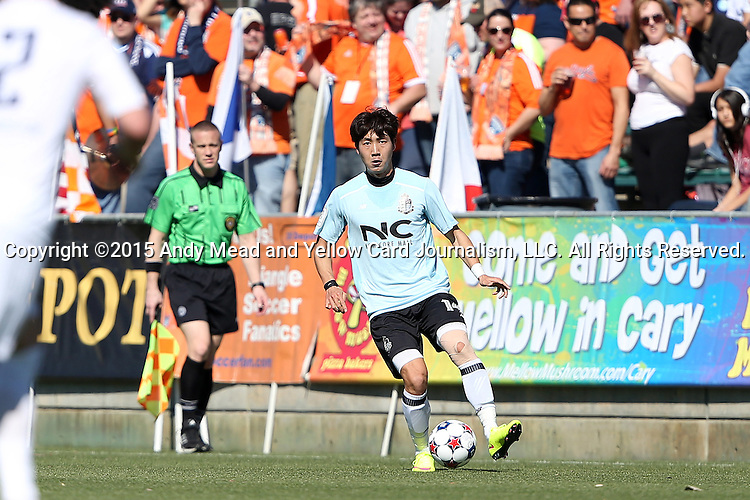 08 March 2015: E-Land's Hwang Do-Yeon (KOR). The Carolina RailHawks of the North American Soccer League played Seoul E-Land FC of the K-League Challenge at WakeMed Stadium in Cary, North Carolina in a 2015 preseason friendly for both clubs. The game ended in a 0-0 tie. Afterwards, Seoul E-Land won a penalty kick shootout 5-4.