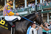 LOUISVILLE, KY - JUNE 30: Ten City (Robby Albarado) wins the 116th running of the G3 Bashford Manor Stakes at Churchill Downs, Louisville, Kentucky.He is led into the winner's circle by the owner's wife. Owner Tommie M. Lewis, trainer Kenneth G. McPeek, by Run Away and Hide x Maiden America (Rock Hard Ten)(Photo by Mary M. Meek/Eclipse Sportswire/Getty Images)