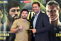 John Ryder (L) and Eddie Hearn during a Press Conference at the Courthouse Hotel on 13th September 2018