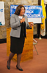 Oct. 23, 2012 - Merrick, New York, U.S. - CAROL GORDON (D), challenging Senator Fuschillo for the third time for 8th Senatorial District, spoke at the 4th Annual Meet the Candidate Night held by Merrick civic associations. After briefly addressing the audience, each candidate then went to the lobby where individual community members asked more questions.