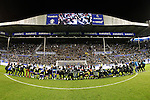 Deportivo Alaves' team celebrate with the supporters the victory in the Spanish Kings Cup semifinal. February 08,2017. (ALTERPHOTOS/Acero)
