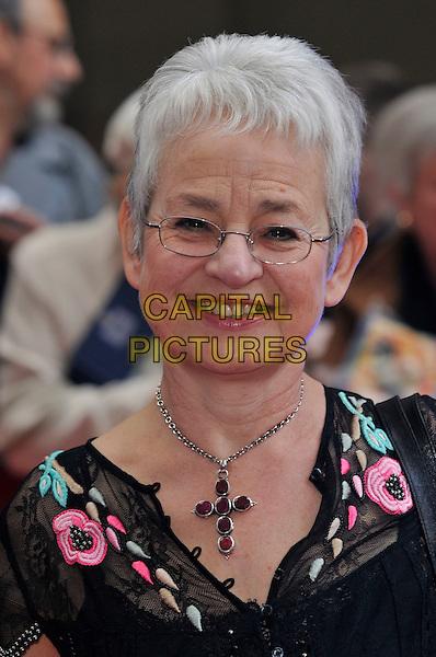 JACQUELINE WILSON.The Galaxy British Book Awards held at the Grosvenor Hotel, Park Lane, London, England. .April 9th 2008 .portrait headshot cross crucifix necklace glasses .CAP/PL.©Phil Loftus/Capital Pictures.