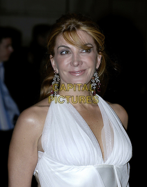 "NATASHA RICHARDSON.""The White Countess"" UK film premiere at Curzon Mayfair, London, UK..March 19th, 2006.Ref: IA.headshot portrait dangling earrings white.www.capitalpictures.com.sales@capitalpictures.com.©Capital Pictures"
