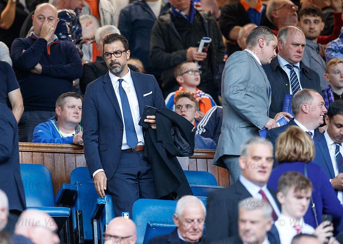 28.09.2018 Rangers v Aberdeen: Jovan Kirovski LA Galaxy technical director in the directors box