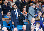 28.09.2018 Rangers v Aberdeen: Jovan Kirovski LA Galaxy technical director in the directors box