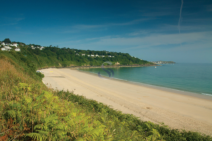 St Ives and St Ives Bay from Carbis Bay
