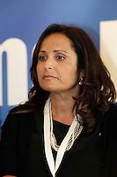 Presentazione dei candidati campani del Nuovo centro destra alle elezioni europee<br /> nella foto Loredana Strianese