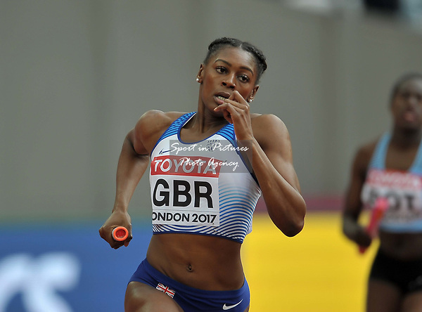 Perri Shakes-Drayton (GBR) in the womens 4 x 400m relay. IAAF world athletics championships. London Olympic stadium. Queen Elizabeth Olympic park. Stratford. London. UK. 12/08/2017. ~ MANDATORY CREDIT Garry Bowden/SIPPA - NO UNAUTHORISED USE - +44 7837 394578