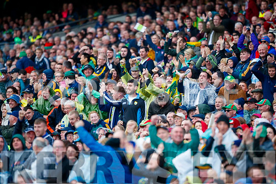Kerry supporters celebrate Johnny Buckley goal at the All Ireland Semi Final in Croke Park on Sunday.