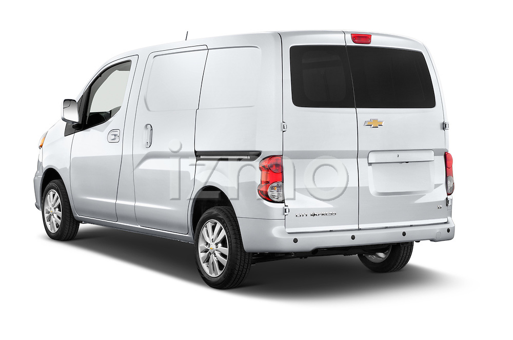 Car pictures of rear three quarter view of2015 Chevrolet City Express LT 5 Door Cargo Van Angular Rear