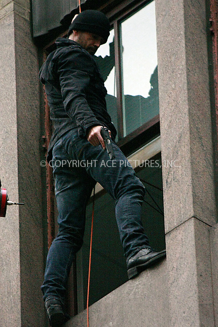 WWW.ACEPIXS.COM . . . . .  ....May 7 2012, Philadelphia....Actor Colin Farrell shoots a dangerous scene on the side of a building for the new movie 'Dead Man Down' on May 7 2012 in Philadelphia, PA....Please byline: William T. Wade jr- ACE PICTURES.... *** ***..Ace Pictures, Inc:  ..Philip Vaughan (212) 243-8787 or (646) 769 0430..e-mail: info@acepixs.com..web: http://www.acepixs.com