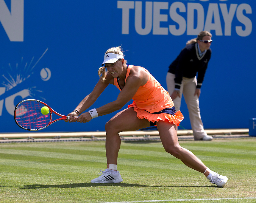 [4] Angelique Kerber (GER) in action during her victory over Katerina Siniakova (CZE) in their Women&rsquo;s Singles Quarter Final match today - [4] Angelique Kerber (GER) def Katerina Siniakova (CZE) 6-2 6-4<br /> <br /> Photographer Stephen White/CameraSport<br /> <br /> Tennis - WTA International - Aegon  Classic - Day 5 - Friday 19th June 2015 - Edgbaston Priory Club - Birmingham<br /> <br /> &copy; CameraSport - 43 Linden Ave. Countesthorpe. Leicester. England. LE8 5PG - Tel: +44 (0) 116 277 4147 - admin@camerasport.com - www.camerasport.com