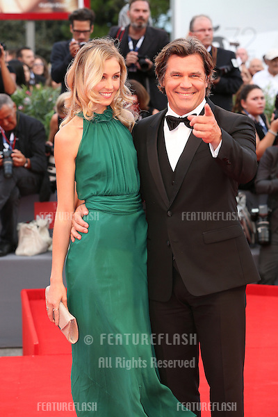 Kathryn Boyd &amp; Josh Brolin at the Opening Ceremony, premiere of Everest at the 2015 Venice Film Festival.<br /> September 2, 2015  Venice, Italy<br /> Picture: Kristina Afanasyeva / Featureflash
