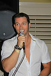 Days Of Our Lives Eric Martsolf at SoapFest's Celebrity Weekend - Celebrity Karaoke Bar Bash - autographs, photos, live auction raising money for kids on November 10, 2012 at Bistro Soleil at Old Historic Marco  Island, Florida. (Photo by Sue Coflin/Max Photos)