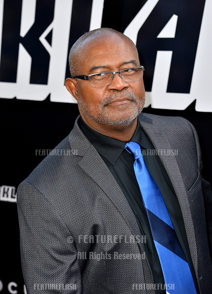 """Ron Stallworth at the Los Angeles premiere of """"BlacKkKlansman"""" at the Academy's Samuel Goldwyn Theatre, Beverly Hills, USA 08 Aug. 2018<br /> Picture: Paul Smith/Featureflash/SilverHub 0208 004 5359 sales@silverhubmedia.com"""