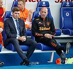 18.07.2019: Rangers v St Joseph's: Steven Gerrard and Gary McAllister