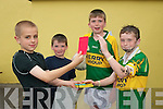 YOU'RE OFF: Nathan Quirke (as ref Paddy Russell) shows the red card to Dillon Hoare (as Paul Galvin) watched by Darra Butler (as linesman) and Thomas Butler (as Toma?s O'Se) in last Sundays Castlegregory summer festival fancy dress competition.   Copyright Kerry's Eye 2008