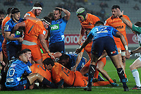 Agustin Creevy scores the first try during the Super Rugby match between the Blues and Jaguares at Eden Park in Auckland, New Zealand on Friday, 28 April 2018. Photo: Dave Lintott / lintottphoto.co.nz