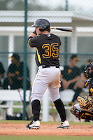 Pittsburgh Pirates third baseman Wyatt Mathieson (35) during an Instructional League intersquad scrimmage on September 29, 2014 at the Pirate City in Bradenton, Florida.  (Mike Janes/Four Seam Images)
