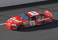 Apr 27, 2007; Talladega, AL, USA; Nascar Nextel Cup Series driver Dale Earnhardt Jr (8) during practice for the Aarons 499 at Talladega Superspeedway. Mandatory Credit: Mark J. Rebilas