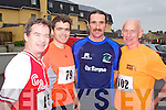 Pictured at the Kerryhead Half Marathon in Ballyheigue on Sunday, from left: Jim McNiece (Tralee), Richard O'Brien (Killarney), John Barrett (Castleisland) and Pat Cleary (Tralee)..