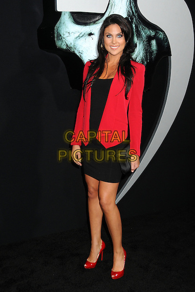 "Nadia Bjorlin.""Final Destination 5"" Los Angeles Special Screening held at Grauman's Chinese Theatre, Hollywood, California, USA..August 10th, 2011.full length black dress red blazer jacket.CAP/ADM/BP.©Byron Purvis/AdMedia/Capital Pictures."