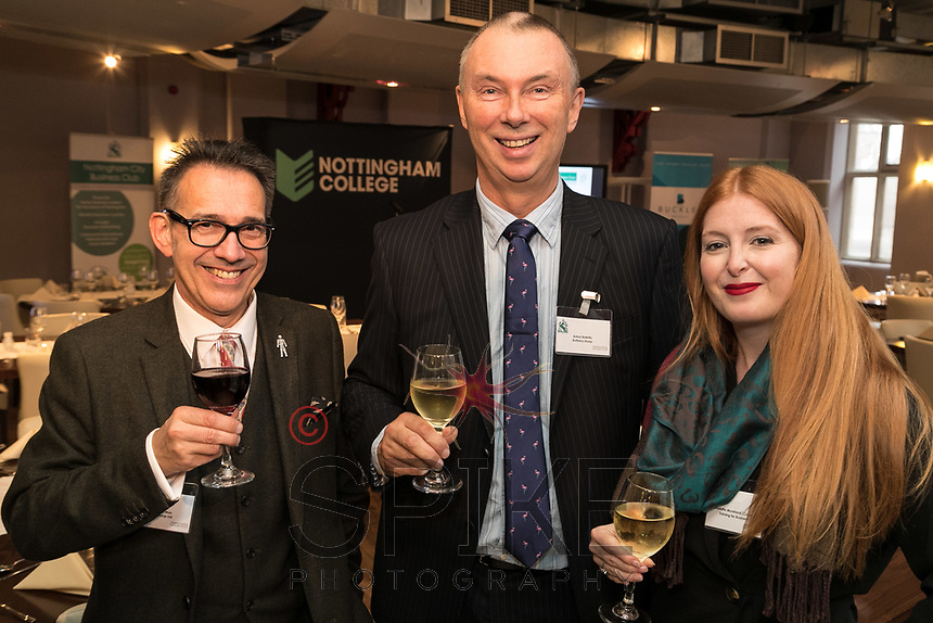 All smiles from left with Nick Max of NG1 Group, ANton Bakitis of Rothera Sharp Solicitors and Charlotte Morland of Training for Business