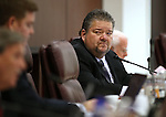 Nevada Assemblyman Richard Carrillo, D-Las Vegas, works in committee at the Legislative Building in Carson City, Nev., on Tuesday, March 3, 2015. <br /> Photo by Cathleen Allison