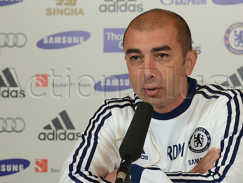 26.10.2012. Stamford Bridge, London, England.  Roberto Di Matteo at a press preview before the Chelsea v Manchester United game this weekend  to be played on Sunday 28th October 2012