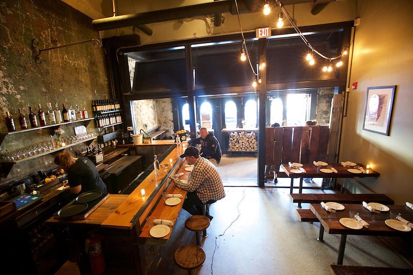 Jersey City, NJ - April 27, 2016: Razza Pizza Artigianale, a brick oven pizzeria by chef Dan Richer in Jersey City.<br /> CREDIT: Clay Williams for Gothamist<br /> <br /> &copy; Clay Williams / claywilliamsphoto.com