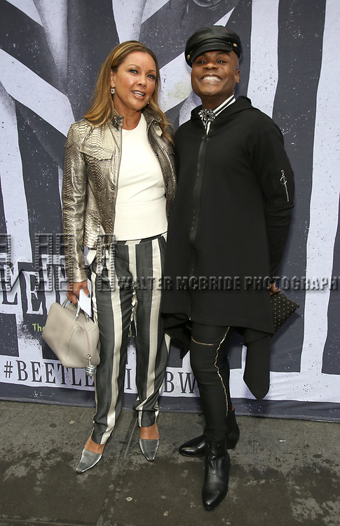 """Vanessa Williams and Nathan Lee Graham attends the Broadway Opening Night Performance for """"Beetlejuice"""" at The Wintergarden on April 25, 2019  in New York City."""