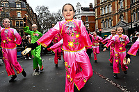 General view shows London's Chinese community celebrating Chinese New Year with a parade through central London.  Credit: Matrix / MediaPunch<br /> <br /> FEBRUARY 10th 2019   *** USA ONLY****