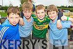 Sean Magann, Oisin O'Connor, Patrick Crehan and Eoin Sheehan pictured at the official opening of the school extension at Cullina National School on Thursday.............................................................................