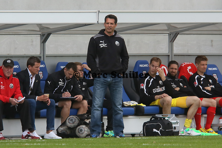 Trainer Alois Schwarz (SVS) - FSV Frankfurt vs. SV Sandhausen, Frankfurter Volksbank Stadion