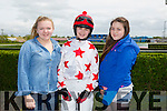 Amy Scully, Libby Ducker and Saidbh Hull at the Kerry International Horse Racing at Ballybeggan Race Track on Sunday dedicated to the memory of John Browne