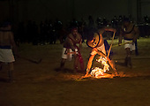 Mexican indigenous participants demonstrate Pelota Purépecha, a traditional game played with a ball of fire, at the International Indigenous Games, in the city of Palmas, Tocantins State, Brazil. Photo © Sue Cunningham, pictures@scphotographic.com 31st October 2015