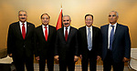 Palestinian Prime Minister Mohammad Ishtayeh, meets with ITU Secretary-General Houlin Gao, in Geneva, Switzerland, on June 12, 2019. Photo by Prime Minister Office