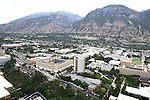 1309-22 0167<br /> <br /> 1309-22 BYU Campus Aerials<br /> <br /> Brigham Young University Campus West looking East, Provo, Sunrise, Y Mountain, Joseph F. Smith Building JFSB, Kimball Tower SKT, Eyring Science Center ESC, Benson Building BSN<br /> <br /> September 6, 2013<br /> <br /> Photo by Jaren Wilkey/BYU<br /> <br /> © BYU PHOTO 2013<br /> All Rights Reserved<br /> photo@byu.edu  (801)422-7322