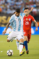 Action photo during the match Argentina vs Chile, Corresponding to Great Final of the America Centenary Cup 2016 at Metlife Stadium, East Rutherford, New Jersey.<br /> <br /> <br /> Foto de accion durante el partido Argentina vs Chile, correspondiente a la Gran Final de la Copa America Centenario 2016 en el  Metlife Stadium, East Rutherford, Nueva Jersey, en la foto: Ever Banega de Argentina<br /> <br /> <br /> 26/06/2016/MEXSPORT/Jorge Martinez.