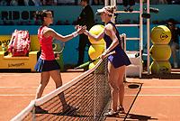 Swiss Viktorija Golubic and American Alison Riske during Mutua Madrid Open Tennis 2017 at Caja Magica in Madrid, May 06, 2017. Spain.<br /> (ALTERPHOTOS/BorjaB.Hojas) /NORTEPHOTO.COM