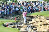 Rory McIlroy (NIR) in action on the 18th fairway during the final round of the DP World Championship, Earth Course, Jumeirah Golf Estates, Dubai, UAE. 24/11/2019<br /> Picture: Golffile | Phil INGLIS<br /> <br /> <br /> All photo usage must carry mandatory copyright credit (© Golffile | Phil INGLIS)