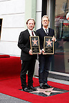 LOS ANGELES - FEB 6: Gerry Beckley; Dewey Bunnell at a ceremony where their rock band 'America' in honored with a star on the Hollywood Walk of Fame in Los Angeles, California