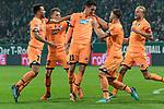 13.01.2018, Weser Stadion, Bremen, GER, 1.FBL, Werder Bremen vs TSG 1899 Hoffenheim, im Bild<br /> <br /> Jubel nach dem 0 zu 1 durch Benjamin H&uuml;bner / Huebner (1899 Hoffenheim #21) <br /> .+v.li <br /> Lukas Rupp (1899 Hoffenheim #07)<br /> Dennis Geiger (1899 Hoffenheim #32)<br /> <br /> <br /> Foto &copy; nordphoto / Kokenge