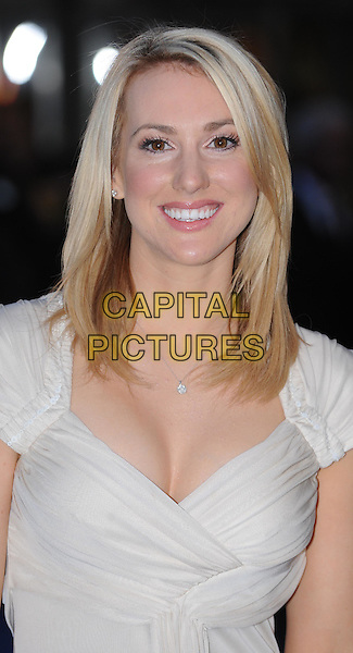 Rebecca Ferdinando.'The Adventures of Tintin: The Secret of the Unicorn' UK film premiere, 55th BFI London Film Festival, Odeon West End cinema, Leicester Square, London, England..23rd October 2011.LFF headshot portrait white biege.CAP/WIZ.© Wizard/Capital Pictures.