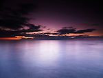 Beautiful twilight scenery after sunset over lake Huron, Grand Bend, Ontario, Canada.