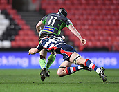 23rd March 2018, Ashton Gate, Bristol, England; RFU Rugby Championship, Bristol versus Yorkshire Carnegie; Sam Jeffries of Bristol make the tackle on Stevie McColl of Yorkshire Carnegie